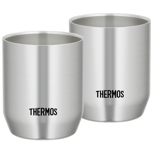 Vacuum double structure Stainless Tumbler 280ml JDH-280P-S 2pcs Thermos Japan