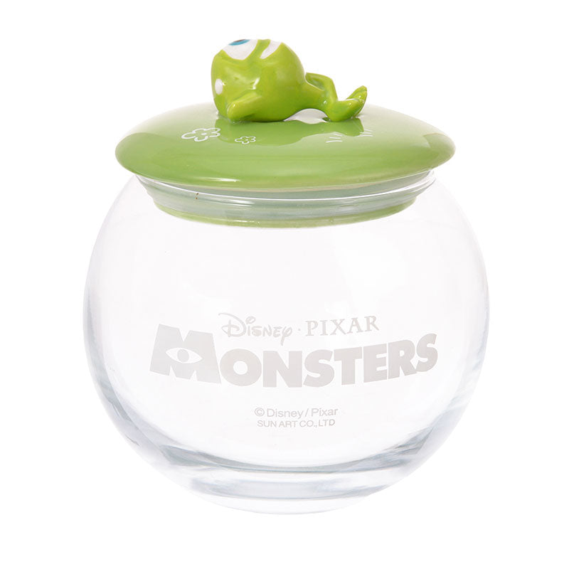 Monsters Inc Mike Canister Glass Round Disney Store Japan