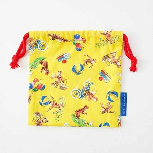 Curious George Drawstring Lunch Bag mini Japan K05071