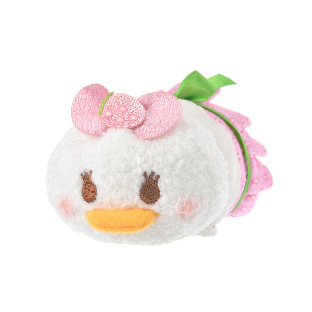 Daisy Tsum Tsum Plush Doll mini S Strawberry Pink Ichigo 2021 Disney Store Japan