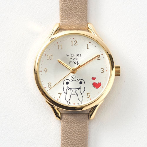 Pickles the Frog Watch Beige Japan
