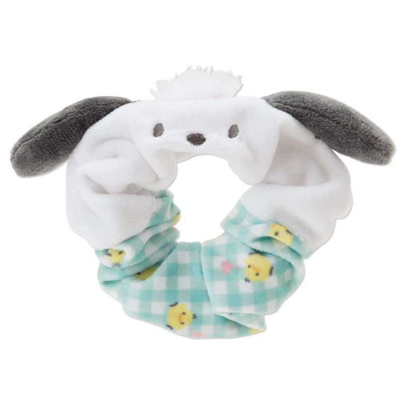 Pochacco Scrunchy Ponytail Holder Plaid Sanrio Japan Hair Accessory