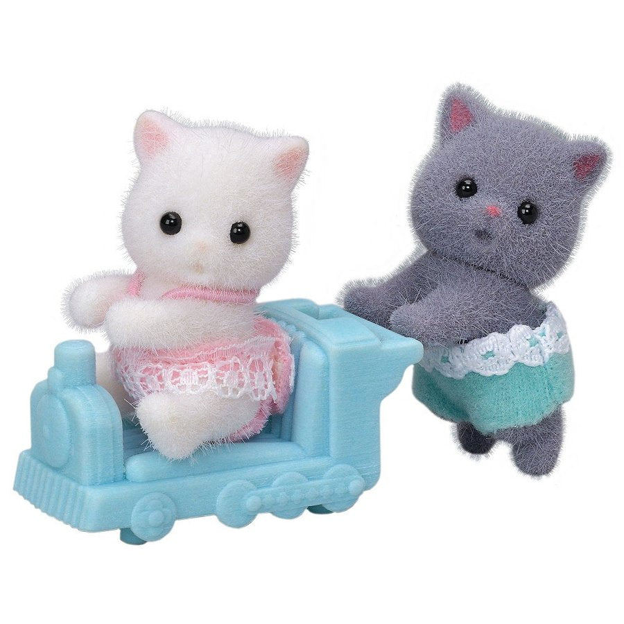 Sylvanian Families Doll Persian Cat Baby Twins NI-108 EPOCH Japan