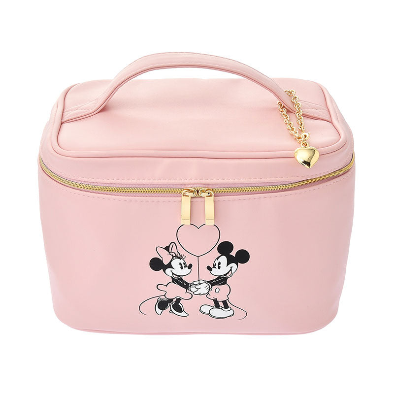 Mickey & Minnie Vanity Pouch Heart Pink Disney Store Japan
