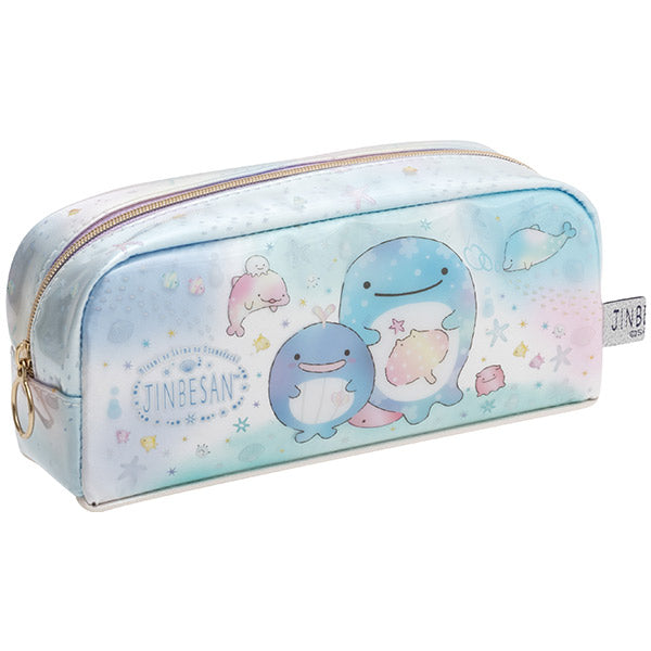 Jinbe San Pen Case Pencil Pouch with Pearl Color Dolphin San-X Japan