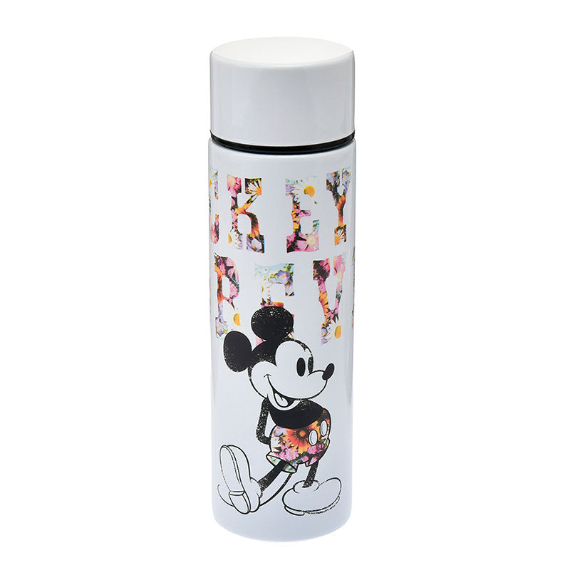 Mickey Stainless Bottle 140ml Graphic Flower Disney Store Japan