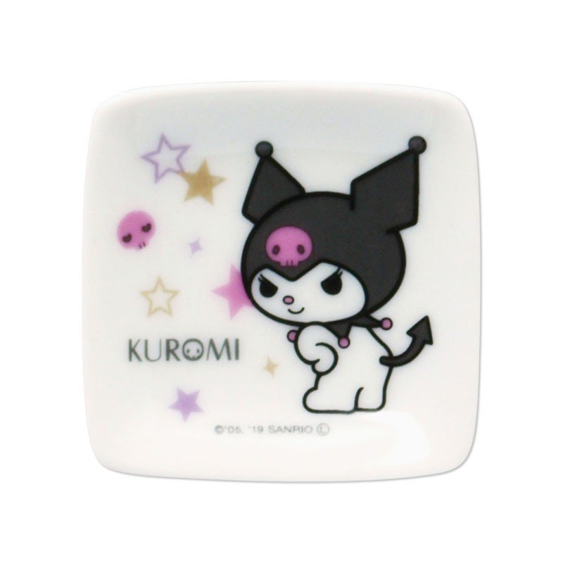 Kuromi mini Square Plate 2pcs Set Star Sanrio Japan