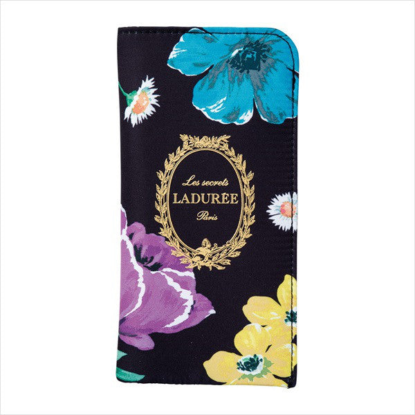 Glasses Case Peony Flower Black Laduree Japan