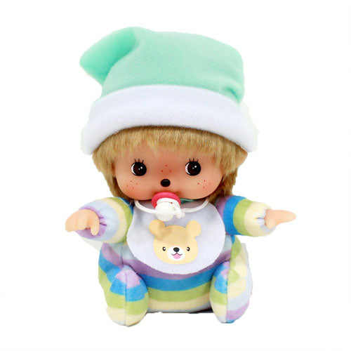 Bebichhichi Doll Boy Sit Multi Stripe Monchhichi Japan