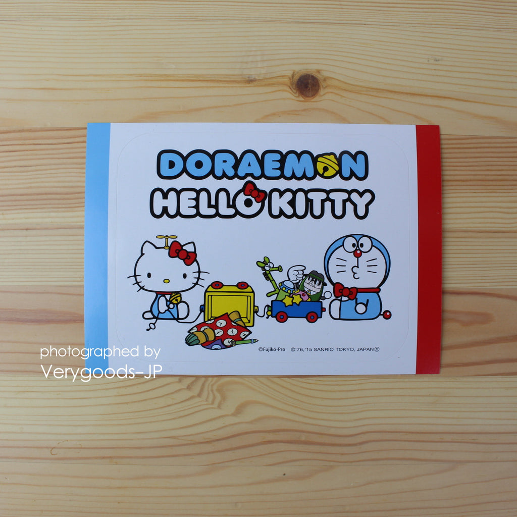Doraemon x Hello Kitty Sticker Toys Sanrio Japan