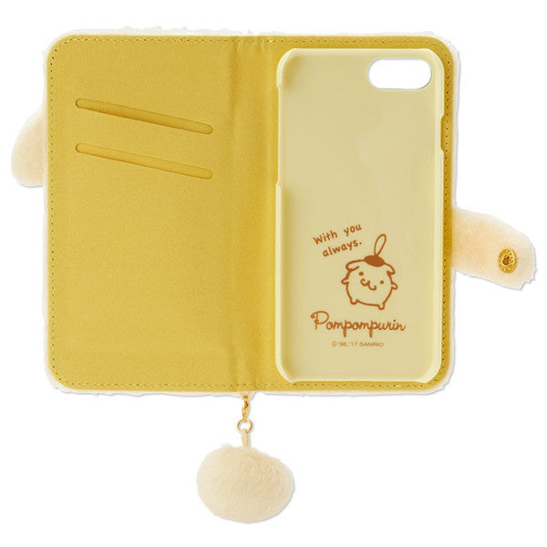 Pom Pom Purin iPhone 7 8 Case Cover Plush Tail Sanrio Japan