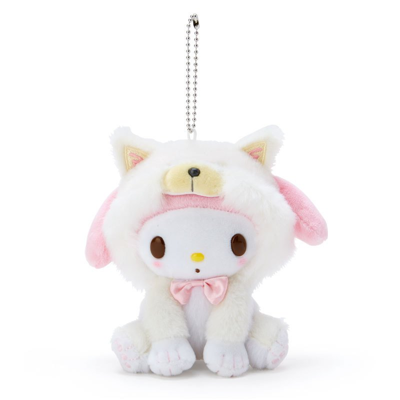 My Melody Plush Mascot Holder Keychain Shiba Inu Dog Sanrio Japan
