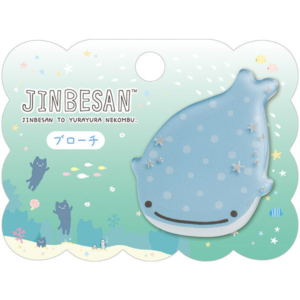 Jinbei San Whale Shark Broach with Swaying Root Kelp San-X Japan