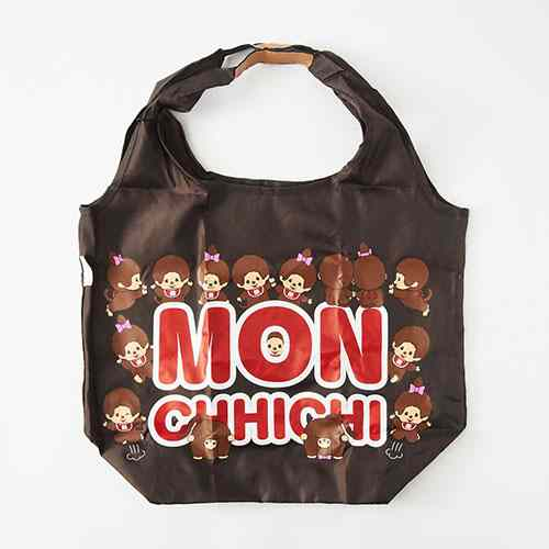 Monchhichi Eco Shopping Tote Bag Pose MONE Brown Japan