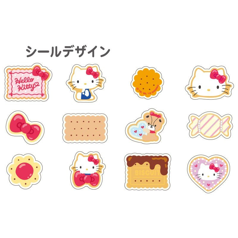 Hello Kitty Roll Sticker Biscuits Sanrio Japan