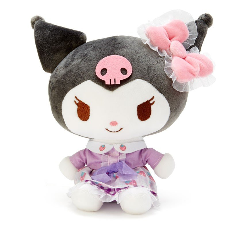 Kuromi Plush Doll Strawberry Cake Munyu Happy 45th Anniversary Sanrio Japan