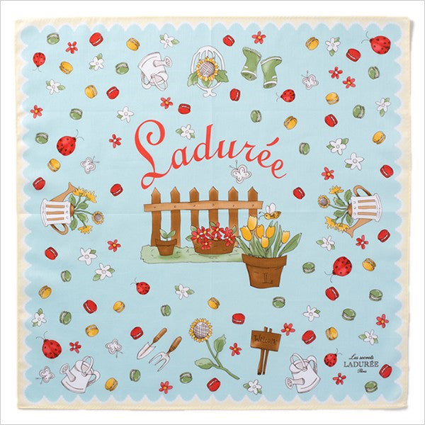 Handkerchief Blue Charm Garden Laduree Japan