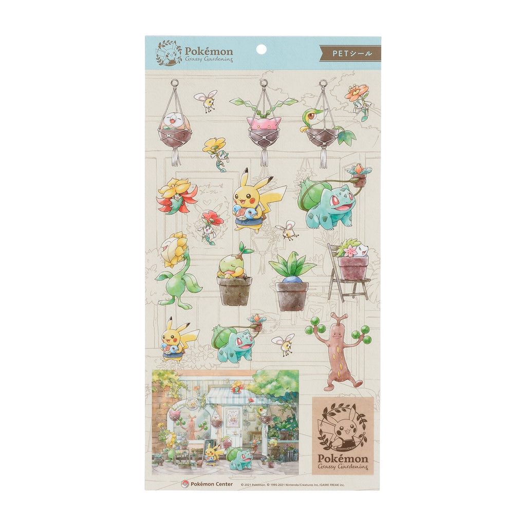 PET Sticker Pokemon Grassy Gardening Japan Center