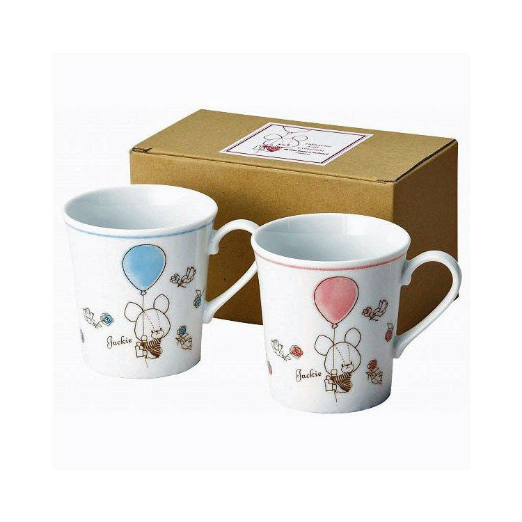 Jackie Mug Cup Balloon Pair Set the bears' school Japan