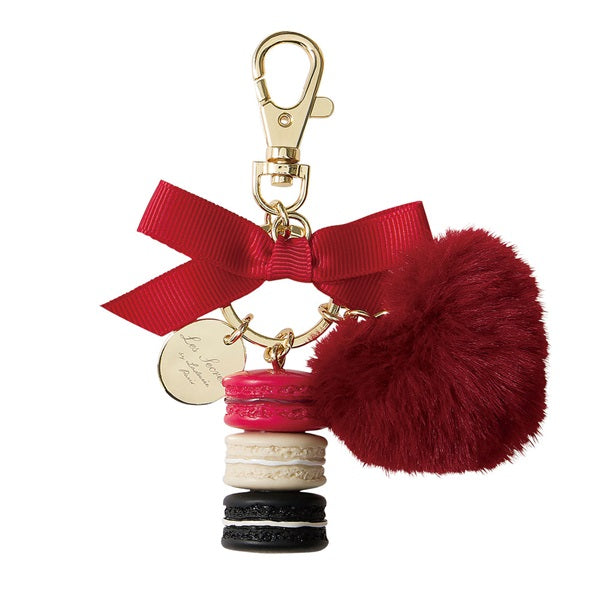 Keychain Key Holder Laduree Japan 2019 Limit Macaron Bag Charm Pompom