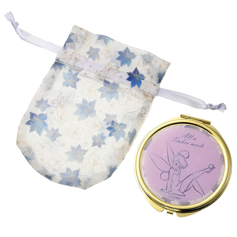 Tinker Bell Mirror with pouch Starry Night Disney Store Japan