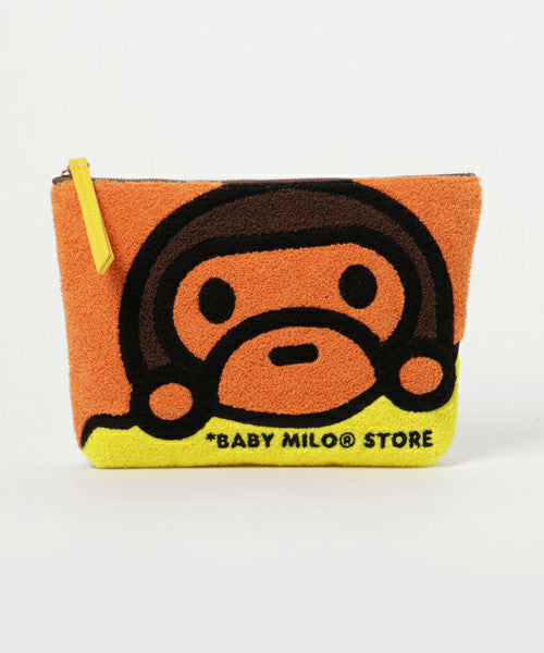 POUCH CHENILLE Orange A BATHING APE Japan