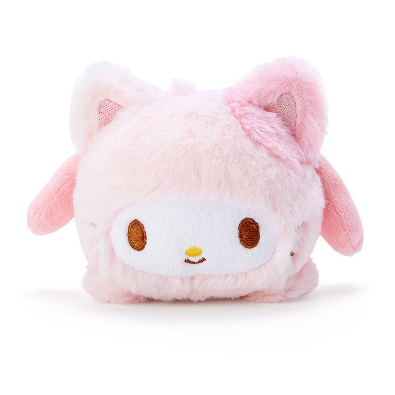 My Melody Plush Doll Face Down Pose Happy Cat Sanrio Japan