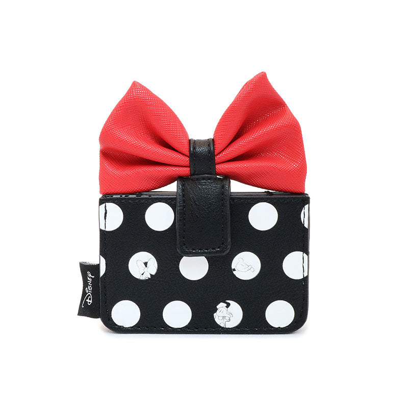 Mickey & Minnie Card Case Dot Skirt Loungefly Disney Store Japan