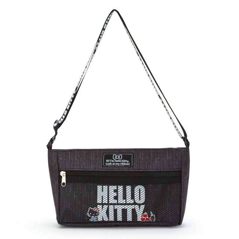 Hello Kitty Denim style mini Shoulder Bag Black Sanrio Japan