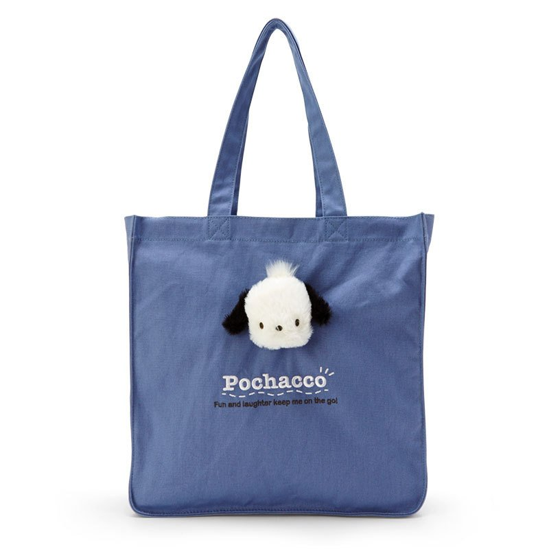 Pochacco Boa Plush Mascot Tote Bag Sanrio Japan