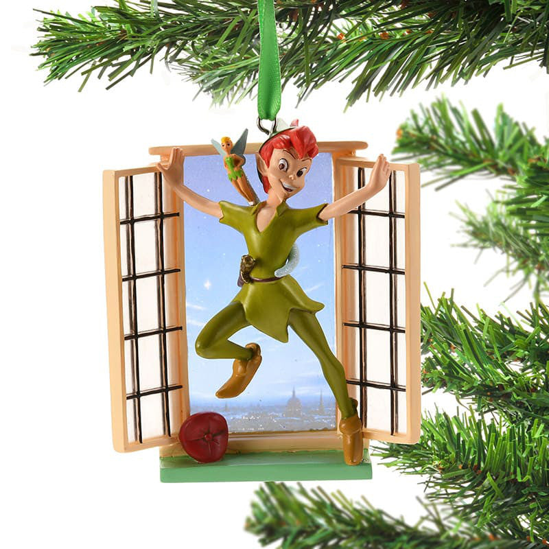 Peter Pan & Tinker Bell Christmas Tree Ornament Legacy Disney Store Japan 2018