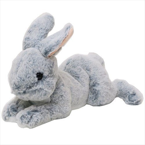 Hizausagi Knee Rabbit Plush Doll Gray Sunlemon Japan