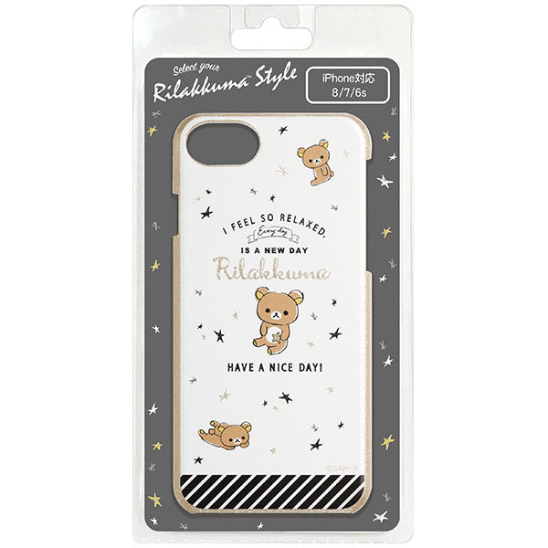 Rilakkuma iPhone 6 6s 7 8 Case Cover Black Rilakkuma Style San-X Japan