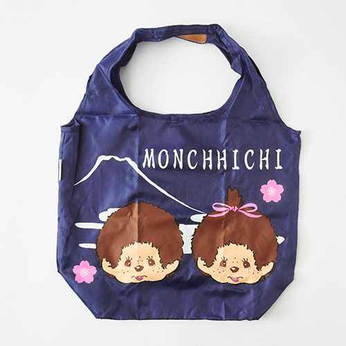 Monchhichi Eco Shopping Tote Bag Japanese Wa MONE Navy Japan