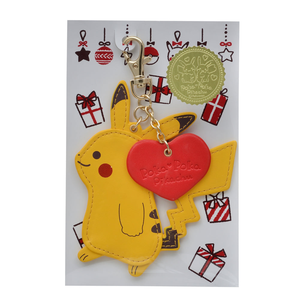 Poka Poka Pikachu Keychain Key Holder Pokemon Center Japan Original