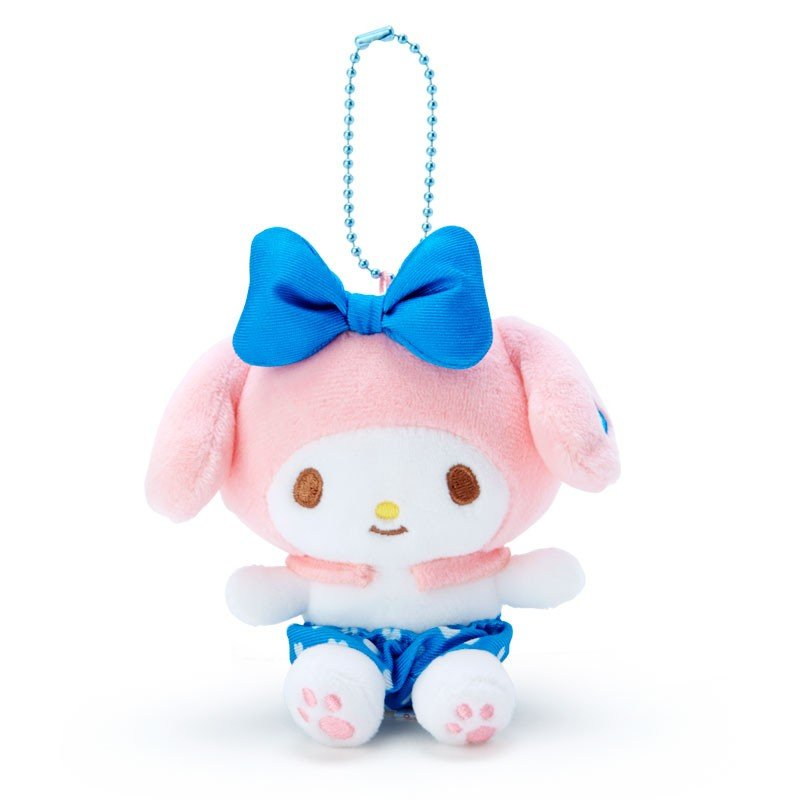 My Melody Plush Mascot Holder Keychain Blue Recommend Color Sanrio Japan