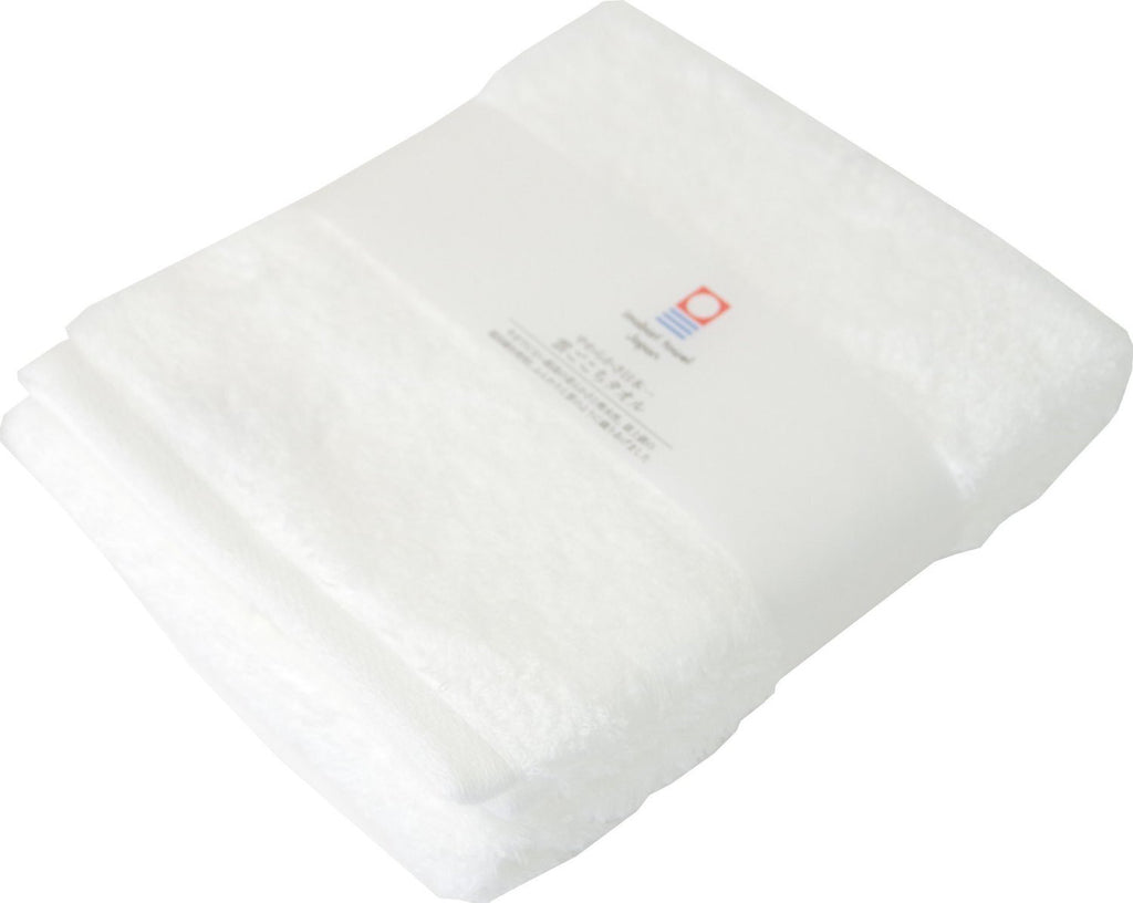Face Towel White Super Soft Cloud Imabari Towel Japan