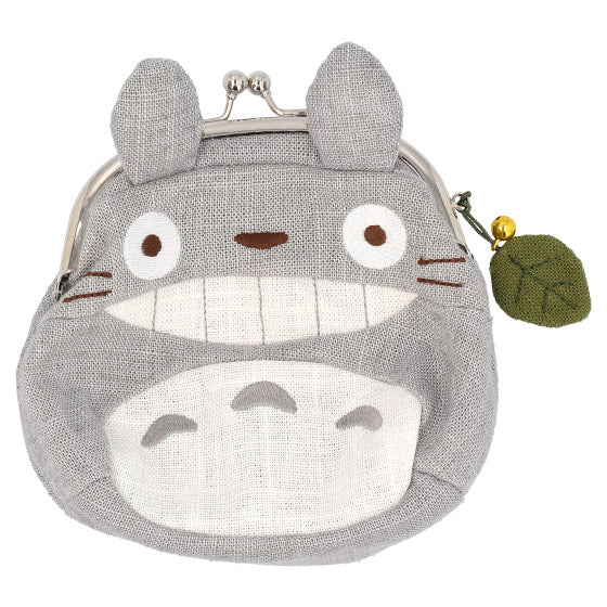 My Neighbor Big Totoro Clasp Pouch Wa Japanese style Gray Studio Ghibli Japan