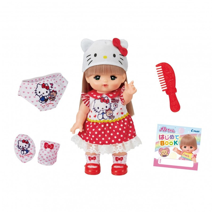 Mell Chan Pretend Play Doll Set Hello Kitty Pilot Japan