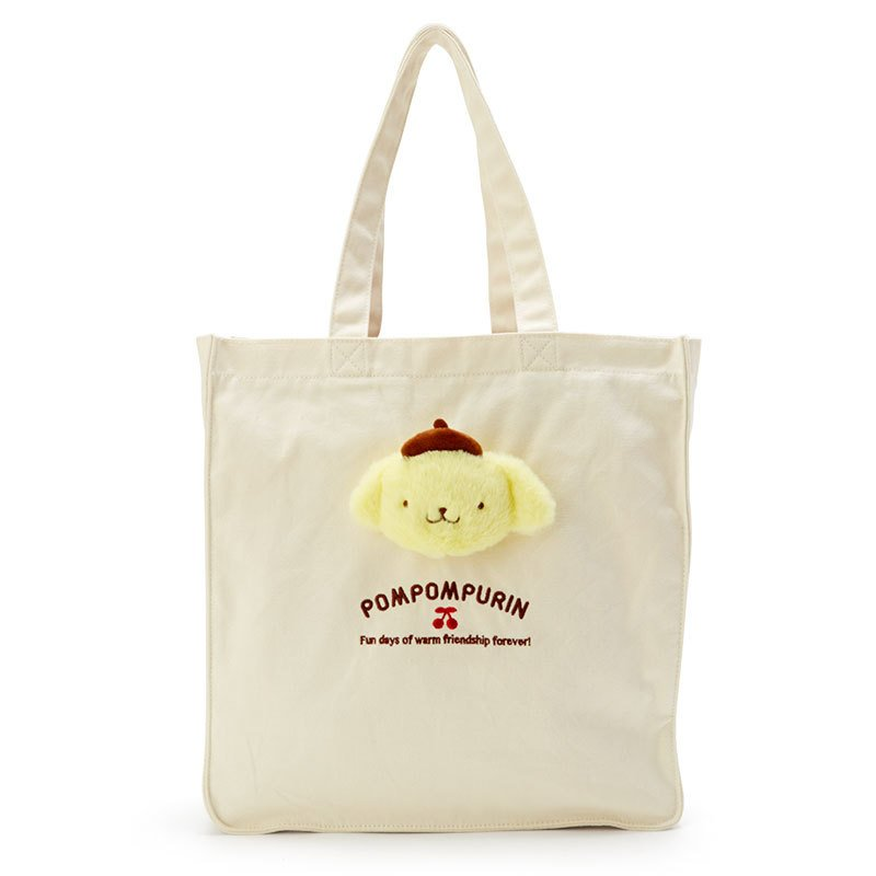 Pom Pom Purin Boa Plush Mascot Tote Bag Sanrio Japan