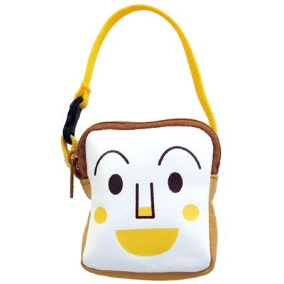 Shokupanman Pouch with Handle Strap Anpanman Japan Kids ANJ-800