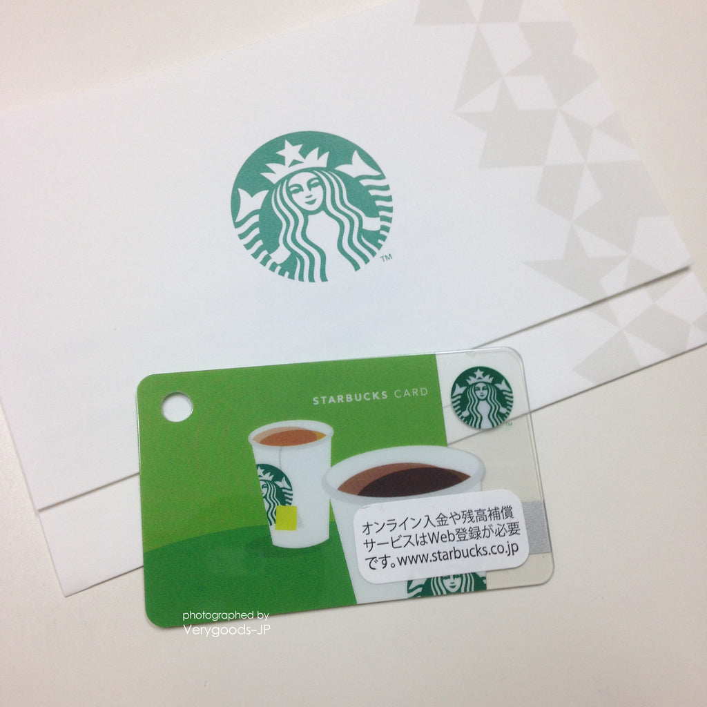 Starbucks Mini Gift Card Japan 2013 Coffee or Tea w/sleeve green