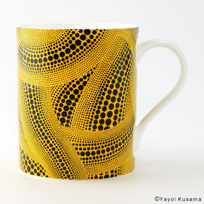 Mug Cup Tree Yellow Yayoi Kusama Japan with Box