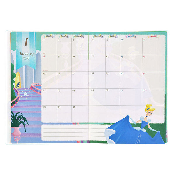 2018 Schedule Notebook B6 Monthly MY DISNEY STORE Disney Store Japan