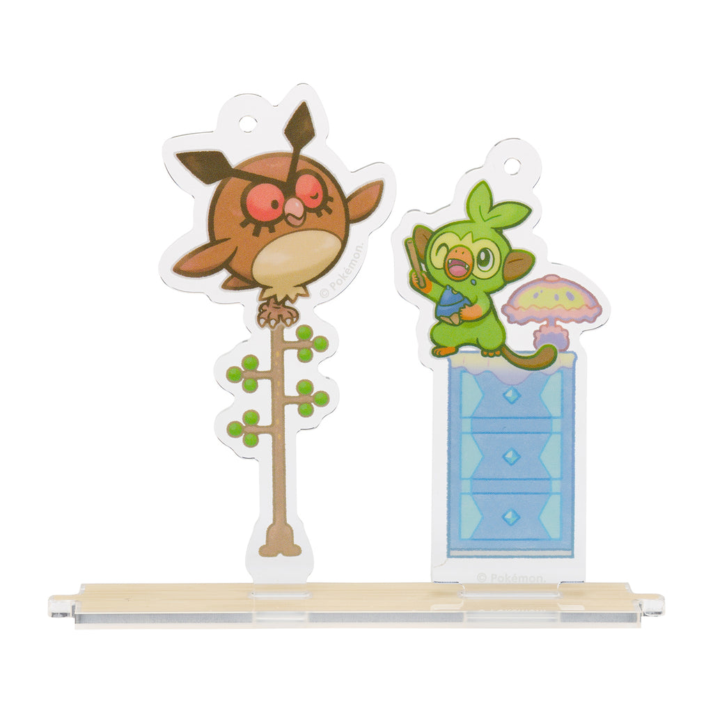 Grookey Sarunori & Hoothoot Hoho Acrylic Charm Snorlax Yawn Pokemon Center Japan