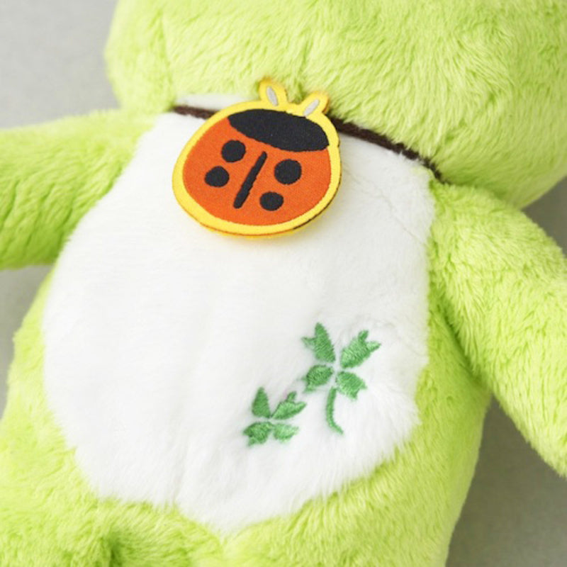 Pickles the Frog Bean Doll Plush Lucky Motif Ladybug Clover Green Japan