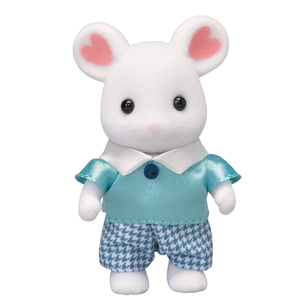 Marshmallow Mouse Boy Ne-105 Sylvanian Families Japan Calico Critters Epoch