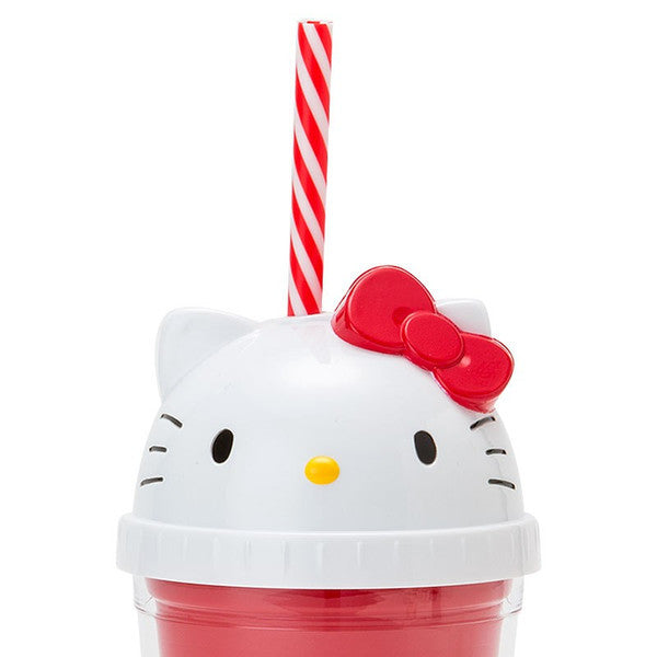 Hello Kitty Straw Tumbler Clear Cup Sanrio Japan