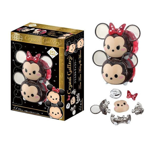 Tsum Tsum Mickey Minnie 41 piece Crystal Gallery 3D Puzzle Japan Disney