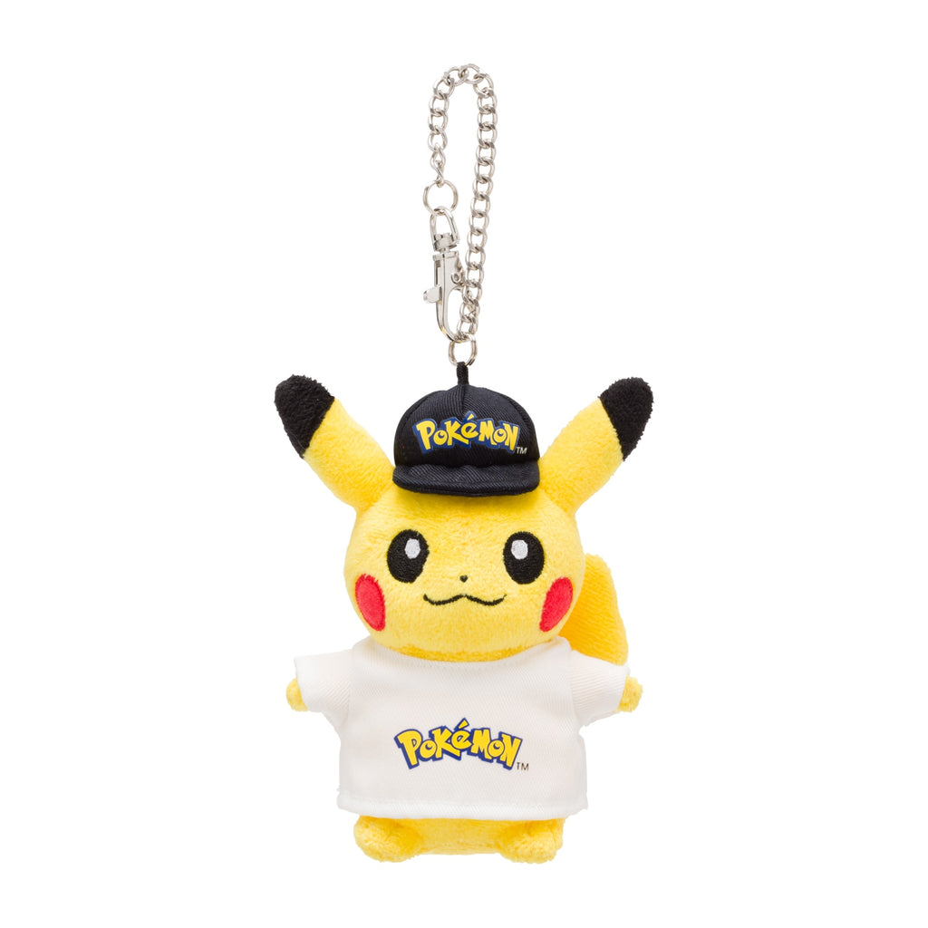 Pikachu Plush Keychain Logo Pokemon Center Japan